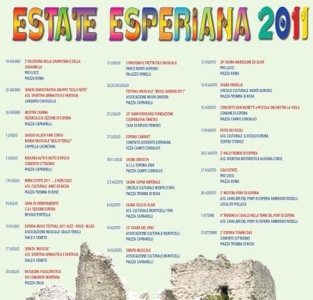 estate, esperiana, 2011, esperia, manifestazioni, evenenti, estivi, ciociaria
